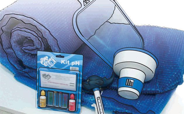 Kit d'entretien avec couverture Toi VERANO piscine hors-sol Ø4.0m - Avantage du kit d'entretien avec couverture à bulles Toi VERANO