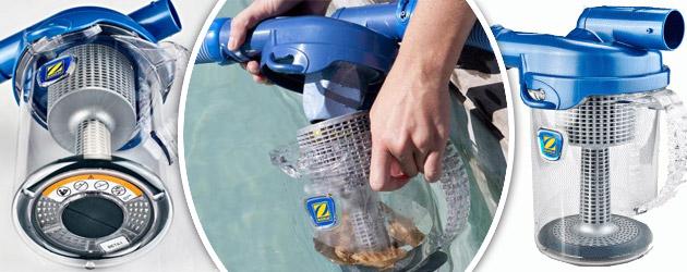 Piege a feuilles Zodiac CYCLONIC LEAF CATCHER robot hydraulique - Piège à feuilles Kokido LEAF CANISTER Simple et efficace