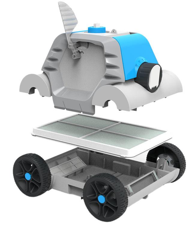 Robot piscine electrique sans fil Bestway THETYS - Robot piscine aspirateur électrique sans fil Bestway THETYS Autonome et efficace