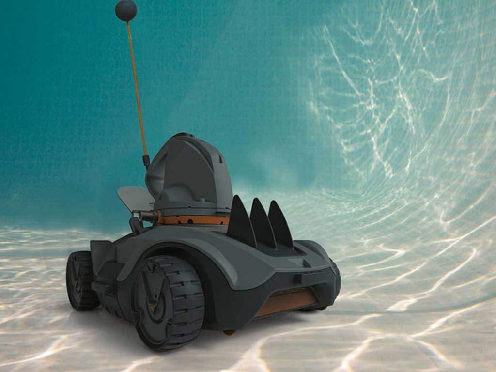 Robot aspirateur piscine sans fil VEKTRO Auto Kokido sur