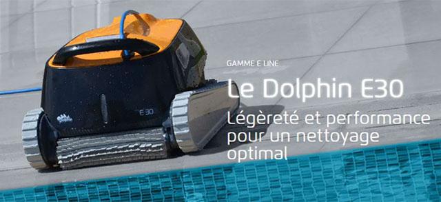 Robot piscine electrique Dolphin E30 - Robot piscine électrique Dolphin E30 Intelligence et efficacité