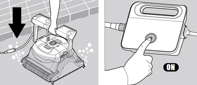 Robot piscine electrique Dolphin EX40 - Utilisation du robot piscine électrique Dolphin EX40